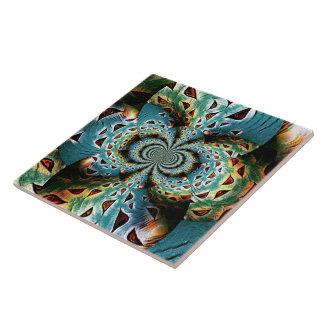Mandala Love - flag Tile