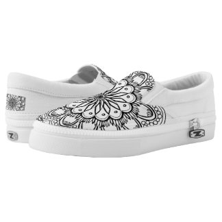 Mandala low top no lace sneakers