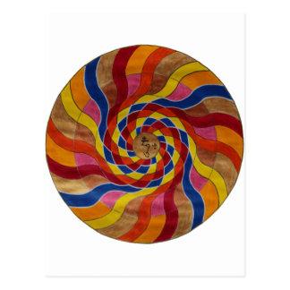 "Mandala mantra ""COM mani peme hung "" Postcard"