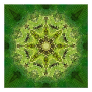 Mandala 'Meadow' Poster