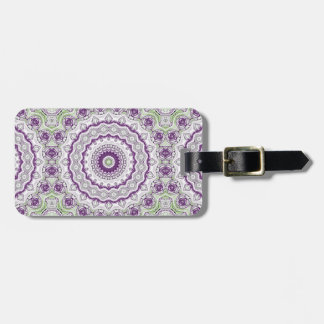 Mandala Medallion in Purple and Green Luggage Tag