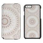 Mandala Medallion in Soft Beige and White Incipio Watson™ iPhone 6 Wallet Case