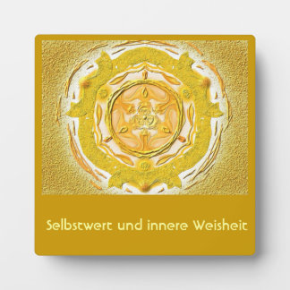 Mandala Meditationsplatte, small IN the gold Plaque