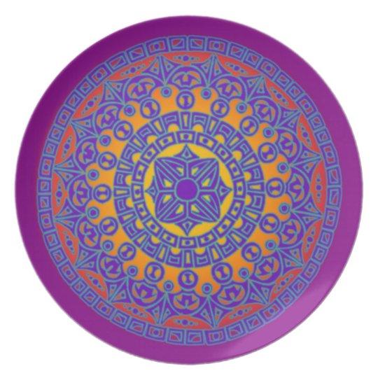 Mandala Melamine Plate