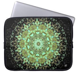 Mandala monsters laptop sleeve