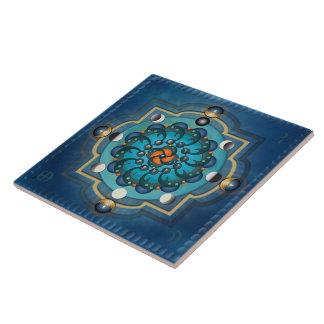 Mandala Moon Phases Tile