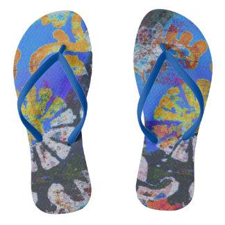 Mandala Mosaic Flip Flops
