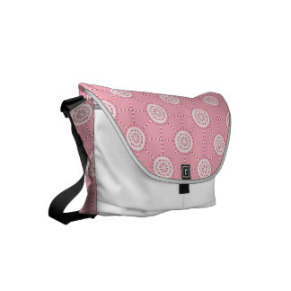 Mandala mosaic patchwork stained glass pink courier bag