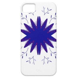 Mandala natural bluewhite iPhone 5 cover