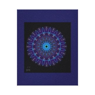 "Mandala ""night-blue "" canvas print"