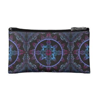 Mandala Night Flower Cosmetic Bag