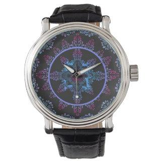 Mandala Night Flower Watch