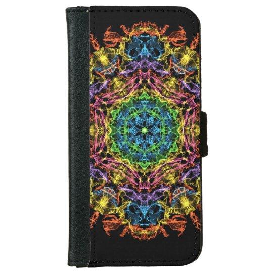 Mandala night iPhone 6 wallet case