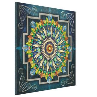Mandala Night Wish Canvas Print