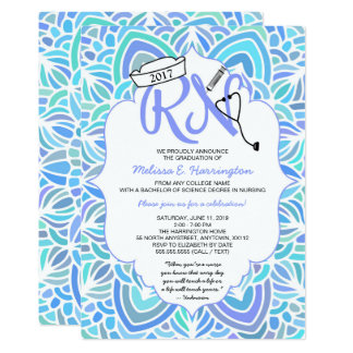 Mandala Nurse graduation RN pinning ceremony party Card