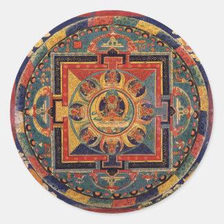 Mandala of Amitayus. 19th century Tibetan school Classic Round Sticker