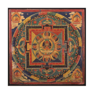 Mandala of Amitayus. 19th century Tibetan school Wood Wall Art