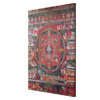 Mandala of Amoghapasa Canvas Print