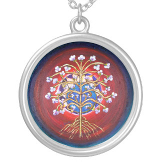 Mandala of Prosperity Silver Plated Necklace