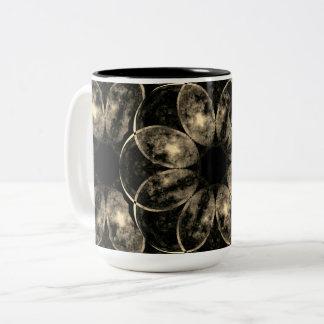 Mandala Of The Moon Two-Tone Coffee Mug