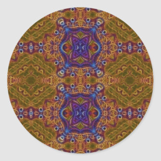 Mandala of the Rising Sun (Sticker) Classic Round Sticker