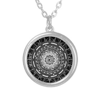 Mandala Om (Aum) Lotus Symbol Necklace