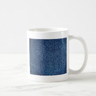 Mandala on Blue Jeans Coffee Mug