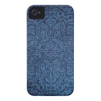 Mandala on Blue Jeans iPhone 4 Case