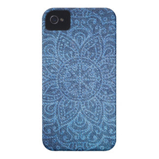 Mandala on Blue Jeans iPhone 4 Cover