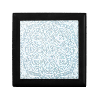Mandala on Light Blue Jeans Jewelry Boxes