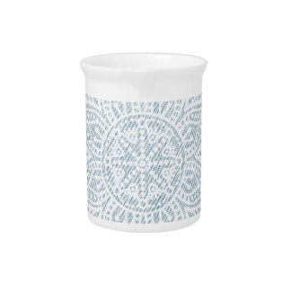 Mandala on Light Blue Jeans Pitchers