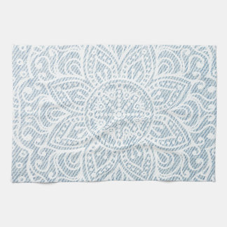 Mandala on Light Blue Jeans Towels