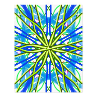 Mandala On White With Yellow And Blue Letterhead