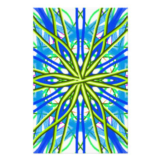Mandala On White With Yellow And Blue Stationery