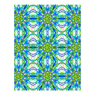 Mandala On White With Yellow And Blue - Tiled Custom Letterhead