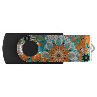 Mandala orient pattern | Indian motif Swivel USB 2.0 Flash Drive