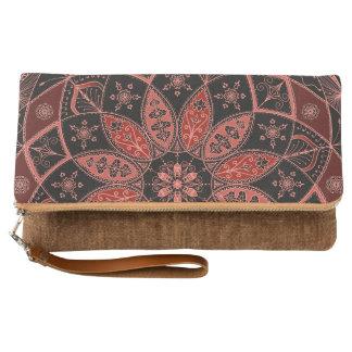 Mandala Oriental Art Pattern Design Autumn clutch