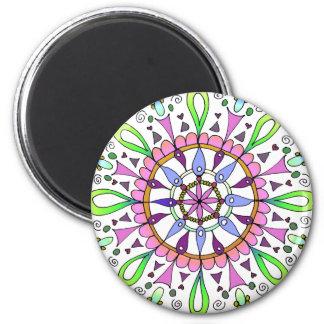 Mandala Original Drawing with Digital Coloring Magnet