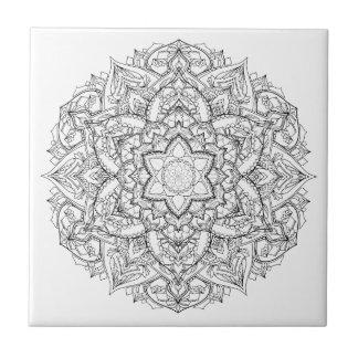 Mandala Painting Tile