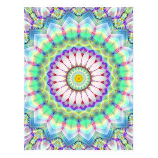 Mandala Patchwork lightblue created by Tutti Postcard