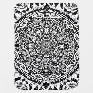 Mandala pattern baby blanket