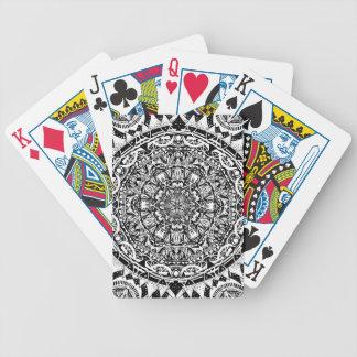 Mandala pattern bicycle playing cards