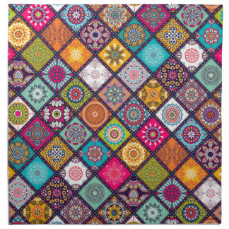 Mandala pattern colourful Moroccan Napkin