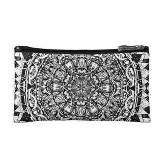 Mandala pattern cosmetic bag