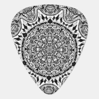 Mandala pattern guitar pick