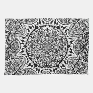 Mandala pattern kitchen towel