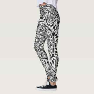 Mandala pattern leggings