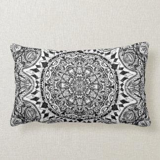 Mandala pattern lumbar pillow