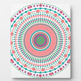 MANDALA PEACH MINT PLAQUE
