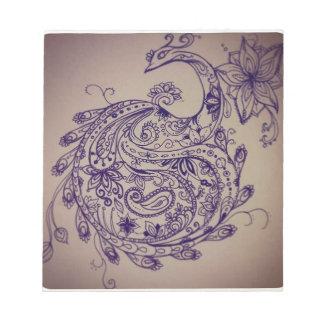 Mandala peacock notepad
